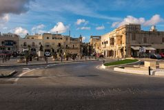 Malta. Rabat Mdina. Streets and squares of the old city of Mdina. The beauty of stone walls. Malta Stock Photo
