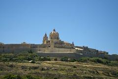 Malta Rabat, Panoramablick der Zitadelle stockfotografie
