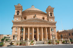 Malta - Rotunda of Mosta (Rotunda of St Marija Assunta) wih the third-largest church dome in Europe. (40 meters in diameter Royalty Free Stock Photos
