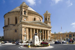 Malta - Rotunda in the town of Mosta. The Rotunda in the town of Mosta on the Island of Malta. The Cupola is one of the largest in the world at 60 meters high Royalty Free Stock Photography