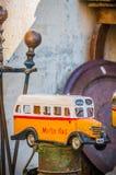 Malta's colourful buses in Gozo. Stock Image