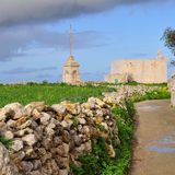 Malta s landscape near Laferla Cross,Malta. Malta s landscape near Laferla Cross,viewpoint of island Malta Stock Photos