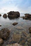 Malta's seascape. Maltese rocky seascape, island's west side, Gnejna Bay, Malta Stock Images