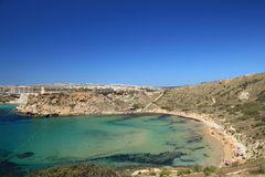 Malta's sunny beach Stock Photos
