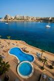 Malta-Saint Julien Bay Aerial View- 12 April 2016. Royalty Free Stock Image