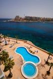 Malta-Saint Julien Bay Aerial View- 14 April 2016. Stock Photos