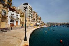 Malta-Saint Julien Bay View- 14 April 2016. Royalty Free Stock Photo