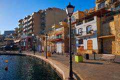 Malta-Saint Julien Bay View- 15 April 2016. Royalty Free Stock Image
