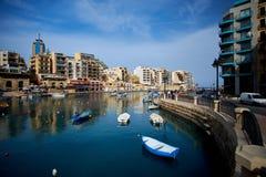 Malta-Saint Julien Bay View- 14 April 2016. Stock Photo