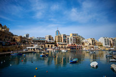 Malta-Saint Julien Bay View- 14 April 2016. Stock Images