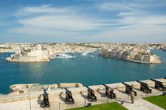 Malta saluting battery. In Valletta Stock Photography