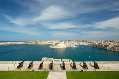 Malta saluting battery. Malta, Valletta saluting battery panorama Royalty Free Stock Photos