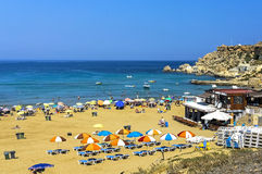 Malta, Sandy beach Royalty Free Stock Photography