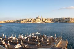 Malta: Scenic landscape of Valletta in the afternoon Royalty Free Stock Photography