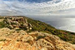 Malta seacoastDingli klippor Fotografering för Bildbyråer