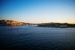 Malta Seascape at Dusk. A seacape and landscape of Malta at dusk Stock Image