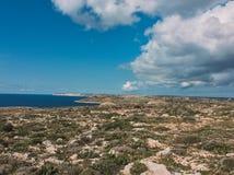 Malta sikt Arkivbild