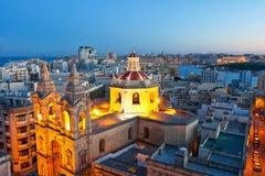 Malta sikt vid natt Royaltyfria Foton