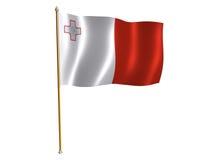 Malta silk flag Stock Photography