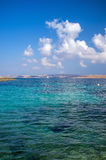 Malta. A simple image showing the beautiful blue skies and azure waters off the island of Malta Stock Photo