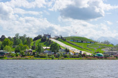 Malta ski track. Ski track at the opposite of the Malta lake in Poznan, Poland Stock Photos