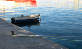 Malta, Sliema, fishing boat. Anchored in port Stock Photos
