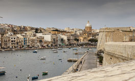 Malta, the small harbor. Small harbor in a stormy day in Valletta Stock Photography