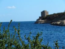 Malta, St. Thomas` Bay. A picturesque view on a fort Stock Images