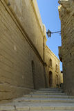 Malta Street. Stone paved laneway on island of Gozo, Malta Stock Images