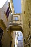 Malta Street. Archway between historic building in Valletta, Malta Stock Image