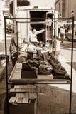 Malta street markets, shoes seller Stock Photo