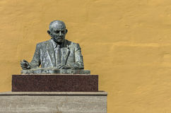 Malta, Streets of Dingli. Bust of Guze Abela, former Maltese minister of finance in the unremarkable and picturesque little village of Dingli, Malta Stock Photos