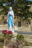 Malta, Streets of Dingli. Statue of the Virgin Mary in the unremarkable and picturesque little village of Dingli, Malta Royalty Free Stock Photography