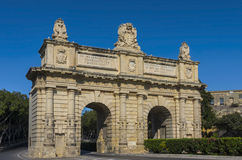 Malta, Views of Floriana. Porte des Bombes or Porta dei Cannoni, constructed between 1697 and 1720, one of the main attractions of the little-known suburb of the Stock Photography