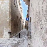 Malta - streets of mdina. Impressive view of the small streets at mdina Royalty Free Stock Photography