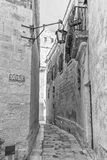 Malta - in the streets of mdina - monochrom variation Stock Photography