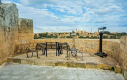 Malta - streets of mdina. At the point you can have a break and show down to the countryside Stock Image