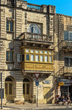 Malta - Streets of Mosta. Old architecture in the historic part of the popular town of Mosta - Malta Royalty Free Stock Images