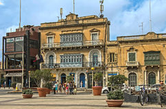 Malta - Streets of Mosta. Old architecture in the historic part of the popular town of Mosta - Malta Royalty Free Stock Photo