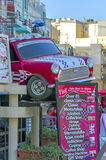 Malta, Streets of Qawra. Malta Classic Car Collection is located in the heart of the tourist area of Qawra-Bugibba-St Pauls Bay (Malta). This fascinating museum Royalty Free Stock Photos