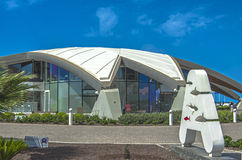 Malta, Streets of Qawra. Impressive modern Malta National Aquarium located in one of Malta's most picturesque promenades - Qawra Point, St. Paul's Bay, Malta Royalty Free Stock Photography