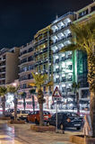 Malta - Streets of Sliema. Impressive night view of of a pleasant seaside resort - Sliema, Malta Stock Photos