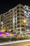 Malta - Streets of Sliema. Impressive night view of of a pleasant seaside resort - Sliema, Malta Stock Photography