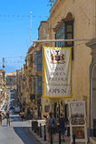 Malta, Streets of Valletta. Casa Rocca Piccola, the 16th century aristocratic residence - Valletta, Malta Royalty Free Stock Photos