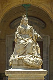 Malta - Queen Victoria. The monument to Queen Victoria (by Giuseppe Valenti, 1891) located in the prominent and popular square in front of the National Library Royalty Free Stock Photography