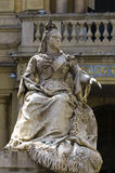 Malta - Queen Victoria. The monument to Queen Victoria (by Giuseppe Valenti, 1891) located in the prominent and popular square in front of the National Library Royalty Free Stock Images