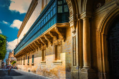 Malta - Streets of Valletta Stock Photography