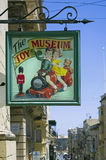 Malta, Streets of Valletta. Toy Museum - Valletta, Malta. This museum houses an impressive collection of dolls, model planes and boats, cars, train sets and so Royalty Free Stock Image