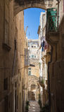 Malta streetview, Valetta. Malta streetview with arch and blue sky, Valetta Stock Photos