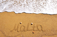 Malta summer beach Royalty Free Stock Photo